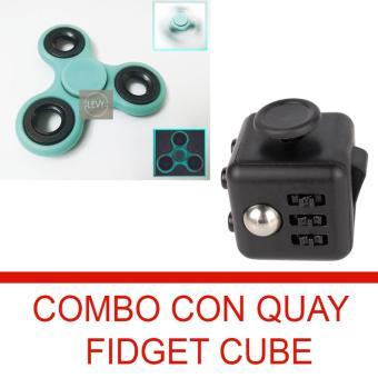 Combo Con quay dạ quang và fidget cube