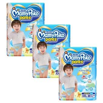 Bộ 3 gói tã quần cho bé trai Mamypoko XXL38
