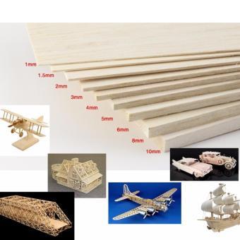 Combo 3 tấm gỗ siêu nhẹ balsa 4mmx100mmx330mm chuyên dụng làm mô hình máy bay điều khiển từ xa, tàu, xe, nhà cửa, trang trí (Nâu)