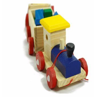 Bộ đồ chơi xe lửa bằng gỗ