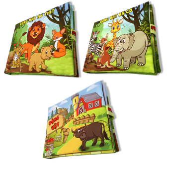 Bộ 3 sách vải cho bé chơi mà học Pipo - Động vật