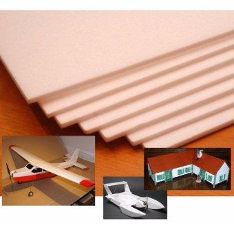 Combo 10 tấm xốp depron foam 5mm (khổ 0.5m x 1m) chuyên dụng làm mô hình máy bay điều khiển từ xa, tàu, xe, nhà cửa, trang trí (Trắng)