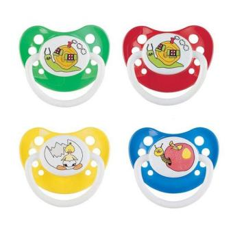 Canpol Babies - Ti giả cherry silicone 0-6 tháng tuổi (1pc) Happy Garden 22/556