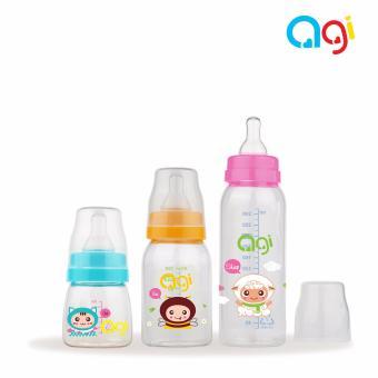 Bộ 3 bình sữa Agi Premium 60ml, 120ml và 250ml (Màu trắng)