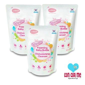 Bộ 3 túi nước rửa bình Unimom Hàn Quốc UM871197 (500mlx3)