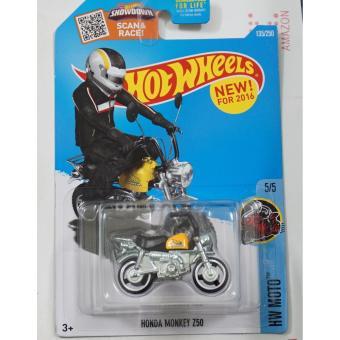 Xe mô tô mô hình tỉ lệ 1:64 Hot Wheels Honda Monkey Z50 (Vàng)