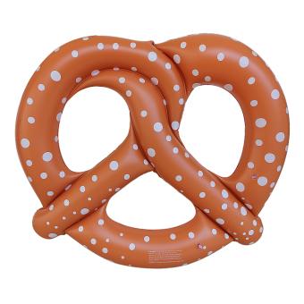 BolehDeals Cute Pretzel Kids Adult Inflatable Blowup Beach Pool Swim Ring Party Toy - Intl