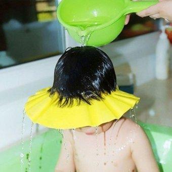 Mũ gội đầu, tắm an toàn cho bé chỉnh 4 cỡ HQ206111-1 (Vàng)