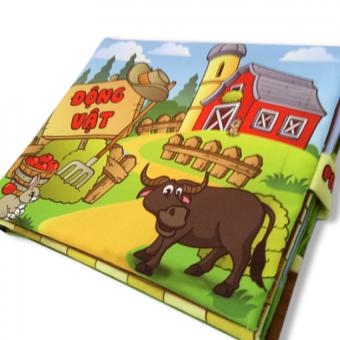 Sách vải cho bé chơi mà học Pipo - Động vật