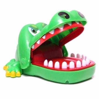 Bộ trò chơi khám răng cá sấu nhỏ (Xanh)
