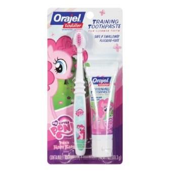 Bộ kem đánh răng và bàn chải cho bé chập chững hương Pinkie Fruity Baby Orajel 28.3 gr