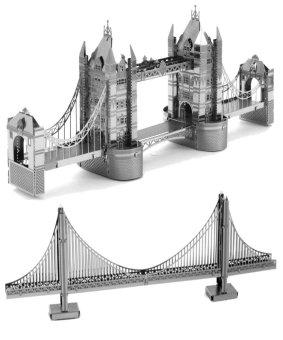 Xếp hình 3D kim loại TÀU TITANIC và cầu GOLDEN GATE Aichienchien