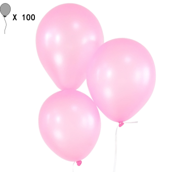 100 PCS Latex 10 Inch Pearl Thick Balloons Wedding Kids Birthday Christmas Holiday Party Decorative Balloons Party Supplies Pink