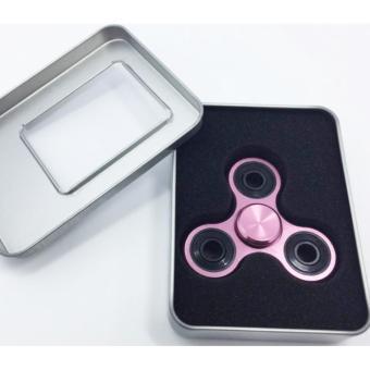 Con quay 3 cánh Fidget Spinner cao cấp xả stress màu Hồng ( Hàng chất lượng loại 1)
