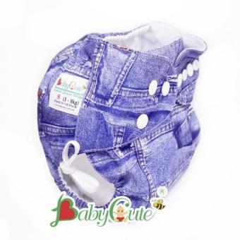 Tã vải ngày BabyCute size S (3-9kg) Jean