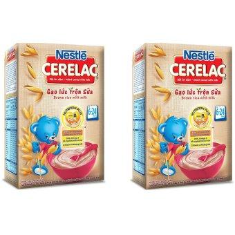 Bộ 2 Bột ăn dặm Nestle GẠO LỨC TRỘN SỮA 200g