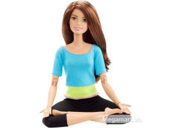 Búp bê Yoga Barbie Made to move Bambi (Áo xanh)