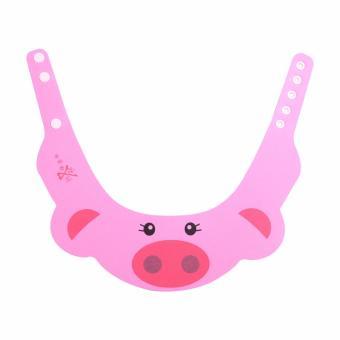 Mũ chắn nước gội đầu hình con lợn cho bé (Hồng)