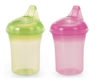 Bộ 2 cốc tập uống chống đổ UPASS hữu cơ UP0188LH (Lá hồng)