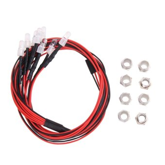 5mm 8 LEDs White Color Red Color LED Light for HSP RC Cars - intl
