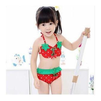 Đồ bơi cao cấp dễ thương cho bé gái (Màu đỏ)