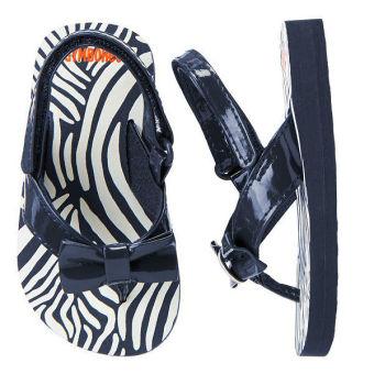 Xăng đan cho bé Gymboree Zebra Bow (Đen phối trắng)