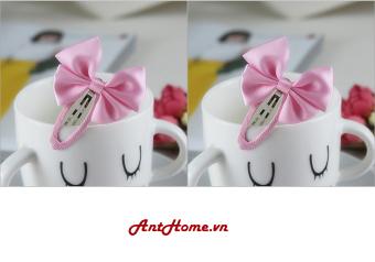 Bộ kẹp nơ handmade xinh xắn màu hồng KN52