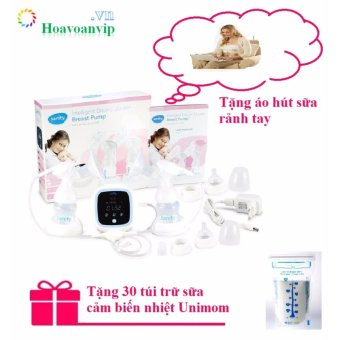 Máy Hút Sữa Điện Sanity AP-5316 Hút Đôi + Tặng Túi Trữ Sữa Và Áo Hút Sữa Rảnh Tay