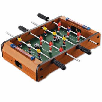 Bộ đồ chơi bàn bi lắc đá bóng bằng gỗ cho bé LLS (Nâu)