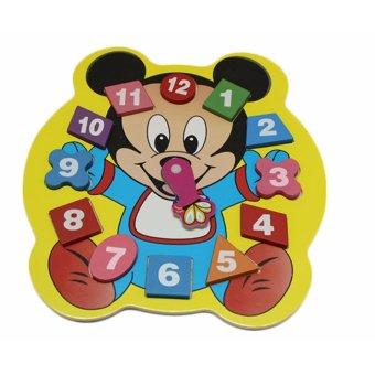 Đồ chơi gỗ đồng hồ số hình con vật AYZ0181