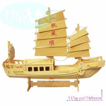 Bộ xếp hình 3D mô hình thuyền buồm cổ trung quốc