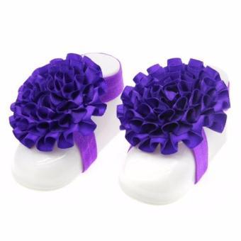 Nơ đeo chân hoa mẫu đơn handmade cho bé 11