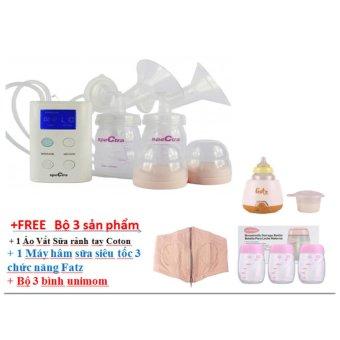 máy hút sữa điện đôi Spectra 9S + Tặng combo 3 sản phẩm 700k ( Áo vắt sữa rảnh tay + Bộ 3 bình Unimom + Máy hâm sữa fatz)