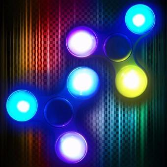 Con quay 3 cánh có đèn led, Spinner led (Xanh dương)