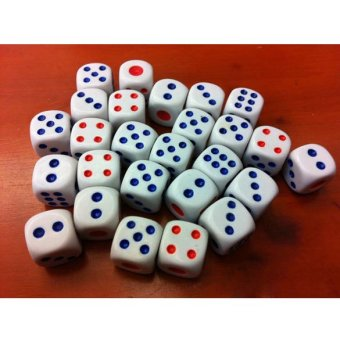 10pcs Standard Plastic 10mm Game Dice White