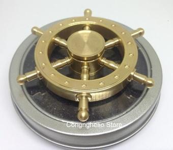 Con quay Spiner Kim loại đồng nguyên khối hình vô lăng tàu ( quay lâu)