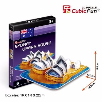 Mô hình sa bàn Cubic Fun 3D bằng giấy cứng: Nhà hát Opera Sydney của Úc