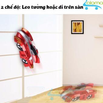 Ô tô đồ chơi leo tường điều khiển từ xa kiểu dáng xe đua KIDNOAM (Đen)