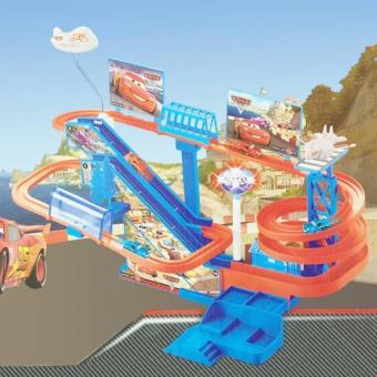 Bộ đồ chơi mô hình đường ray trượt ô tô siêu tốc có nhạc, có đèn cho bé