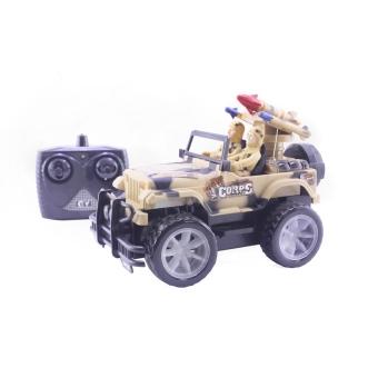 Xe Jeep Quân Sự Điều Khiển Từ Xa Cho Bé Dream Toy USA2713 (Nâu)
