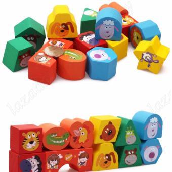 đồ chơi giáo dục, đồ chơi gỗ thả hình luyện tư duy cho bé , chơi mà học
