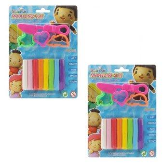 Bộ 2 Đồ chơi đất sét nặn hình 8 màu có khuôn Smile Kids 100g