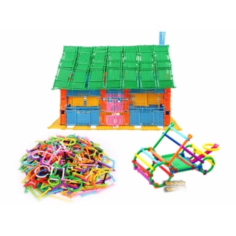 Bộ lắp ghép đồ chơi sáng tạo (800 thanh ghép)