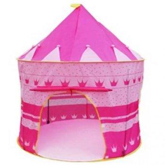 Lều bóng lâu đài cho công chúa (Hồng)