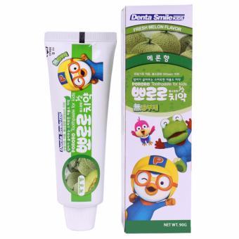 Kem đánh răng trẻ em vị dưa gang Pororo Cao cấp Hàn Quốc 90g - Hàng Chính Hãng
