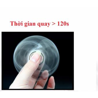 Con Quay Giúp Giảm Stress Kim Loai (Bạc) + Tặng Dầu Bôi Trơn Fidget Spinner Oil
