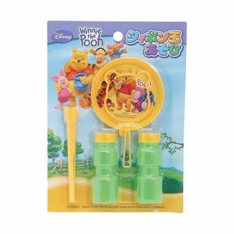 Bộ thổi bong bóng xà phòng Pooh Hàng Nhật (Xanh vàng)