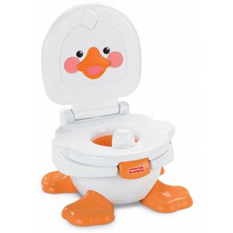 Bô vệ sinh cho bé Lagi N2384 (Trắng phối cam)