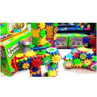 Funny Bricks - Bộ đồ chơi lắp ráp 3D có chuyển động quay tăng khả năng sáng tạo cho bé