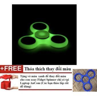Đồ Chơi Giúp Xả Stress Fidget Spinner DẠ QUANG + Tặng vỏ thay đổi màu xanh dương tháo lắp nhanh chóng